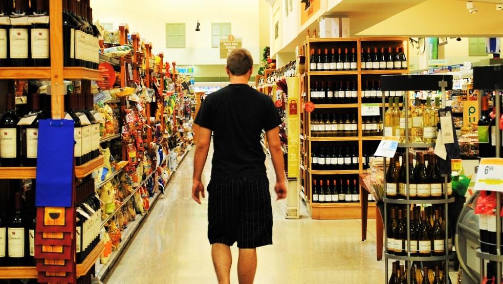 calorie del vino - supermercato