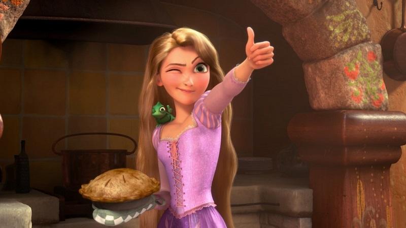 Vino animato rapunzel
