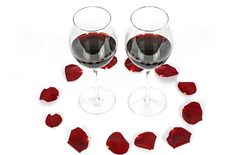 calice di san valentino - bicchieri di vino