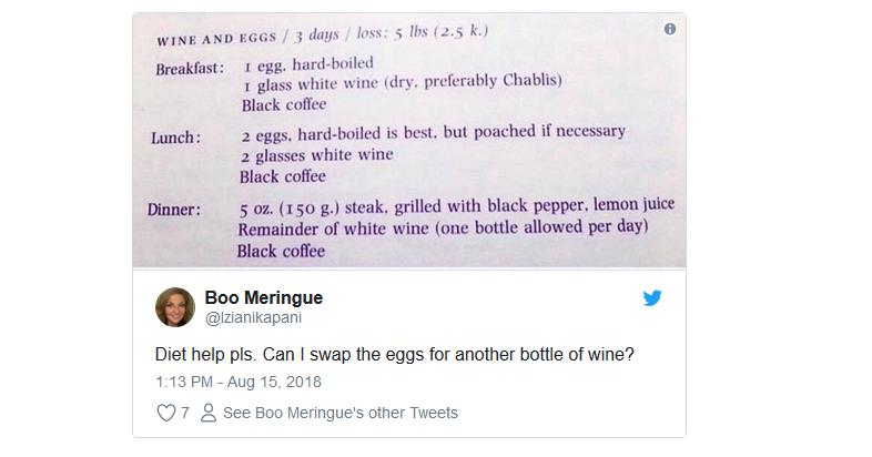 dieta del vino twitter